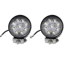 rolinger 2pcs 5 inch cree 27w led light work light bar spot beam