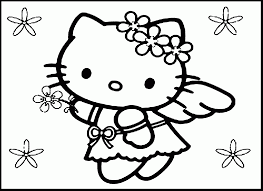 Remarkable Hello Kitty Coloring Pages With Crayon And Sheets