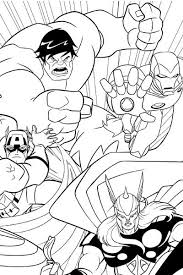 Avengers Earths Mightiest Heroes Coloring Page