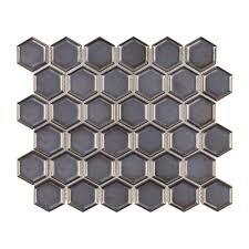Jeffrey Court Mosaic Tile by Jeffrey Court Moonrock 9 7 8 In X 11 3 8 In X 8 Mm Porcelain