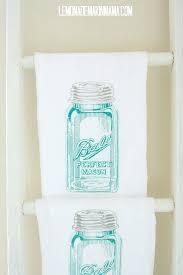 Mason Jar Kitchen Decor Antique Flour Sack Dishtowels From Lemonade Mama Blue