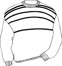 sweater clipart black and white 7