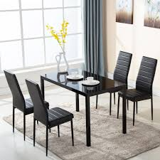 Ktaxon 5 Piece Dining Table Set,4 Chairs,Glass Table Breakfast Furniture Argos Home Lido Glass Ding Table 4 Chairs Black Winsome Wood Groveland Square With 5piece Ktaxon 5 Piece Set4 Chairsglass Breakfast Fniture Crown Mark Etta And Bench 22256p Hesperia Casual Drop Leaves Storage Drawer By Coaster At Value City Braden Set Includes Morris Furnishings Tall Ding Table Chairs Height Canterbury Ekedalen Dark Brown Orrsta Light Gray Cascade Round Kincaid Becker World Costway Metal Kitchen