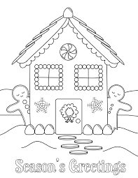 Gingerbread Man House Coloring Page Downoad