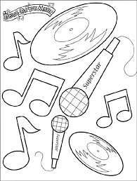 Detail Music Coloring Pages Free