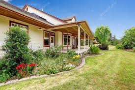 Beautiful Porch Of The House by Farm House Exterior Entrance Porch With Beautiful Flower Bed