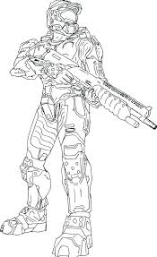Amazing Outstanding Halo Reach Coloring Pages New Master Chief
