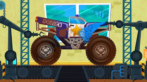 Police Monster Truck | Car Wash | Robot | Games For Kids – Kids YouTube