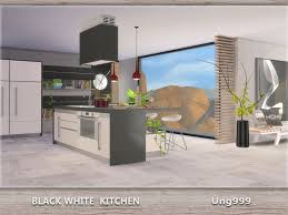 Created By Black White Kitchen For The Sims 4 A Fresh And Modern Set Your 12 Objects In This Counter Island