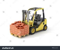 Forklift Truck Bricks Stock Illustration 279882809 - Shutterstock