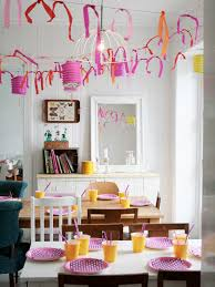Amazing Party Decorations Pictures Eclectic Dining Room Birthday With Paper Lanterns Streamers And Old