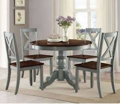 Image Is Loading Farmhouse Dining Table Set Rustic Round Room