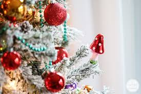 Slim Snow Flocked Christmas Tree by Flocked Christmas Tree Decorating Ideas U2013 Decoration Image Idea