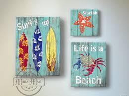 Surf Kids Room Decor Beach Wall Art Vintage For Design 16
