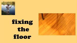 New Laminate Floor Bubbling by Vinyl Plank Flooring Fix Youtube
