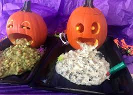 Pumpkin Guacamole Throw Up Cheese by The Very Best Dips For Your Puking Pumpkin Allrecipes