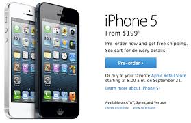 Pre orders for Apple s iPhone 5 sell out in less than an hour