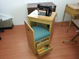 Vintage Kenmore Sewing Machine In Cabinet by Necchi Bu In A Compact And Very Streamlined Cabinet Notice