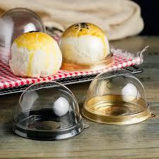 runde kunststoff kuchen box einzelne person mond kuchen tablett boxen kunststoff mooncake pvc boxen essen geschenkverpackung boxen s2017385
