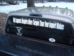 100 Cool Truck Stickers Rear Window