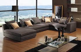 furniture elegant dark grey sectional couches with cushions on