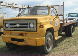 100 78 Chevy Truck 19 Chevrolet C60 Flatbed Truck With Hoist Item 3157 SO
