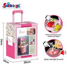 4 in 1 mobile koffer elektrische küche rolle kinder pretend spielen kit kochen spielzeug set mit echt wasser sound licht und rauch wirkung buy