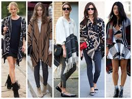 Poncho Trend Street Style 2015