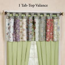 Valances Curtains For Living Room by Living Room Blooming Prairie Tab Top Valance With Tab Top