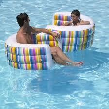 siege de piscine gonflable fauteuil gonflable à combiner multicolore tutti frutti desjoyaux