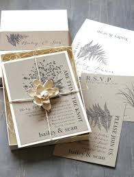 Boxed Wedding Invitations 4972 As Well Rustic Woodland