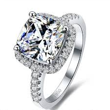 2018 Luxury 3 Carat Sona Simulated Diamond Engagement Rings Princess
