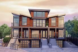 100 Triplex Houses Plan 85259MS Modern House Plan With DriveUnder