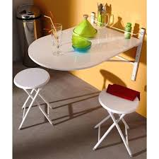 table murale rabattable cuisine table cuisine pliante murale tabouret sinai ensemble table murale