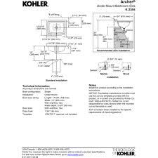 Kohler Archer Rectangular Undermount Sink by Kohler K 2355 96 Archer Biscuit Undermount Single Bowl Bathroom