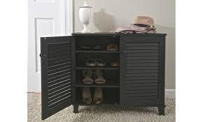 Baxton Studio Shoe Cabinet by Baxton Studio Wood Louvered Door Shoe Storage Cabinet Groupon