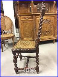 chaises louis xiii table et six chaises de salle à manger style louis xiii chêne époque