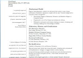 Sample Resume Fresher Teacher Job Best Examples Of Teaching Resumes For Your