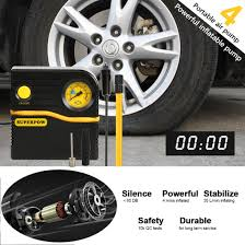 Leelbox: Leelbox Tire Inflator Auto Air Compressor Pump 12V 120 PSI ... Tire Inflator From Northern Tool Equipment 2018 Car Truck Tyre Tire Air Inflator Pump Hose Pssure Meter Gauge Digital Compressor Deko For Suv Motor 6mm Brass Valve Connector Clipon Epauto 12v Dc Portable By Cheap Find Deals On Line At 12volt 150 Psi Compact Mini Inflatorsuperpow Auto 100psi Inflators Or China Jqiao Auto Audew