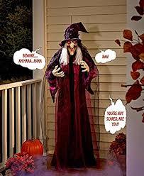 amazon com 71 life size hanging animated talking witch