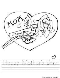 Printable Happy Mothers Day Coloring Page Flower For MotherFree