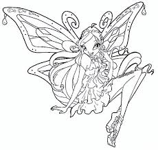 Awesome Winx Club Coloring Page 31 In Free Book With