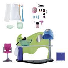 Liccachan Purple Purple Shampoo Chair Chair Chair Takara Doll For