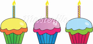 orange birthday cupcake clipart birthday candles clipart