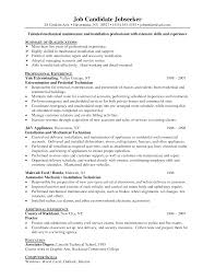 Ultimate Mechanical Maintenance Resume Format Also For