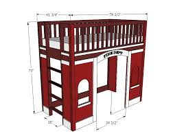 Loft Bed Woodworking Plans by Fire Station Loft Bed Woodworking Plans Woodshop Plans