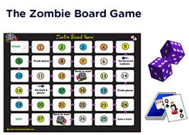 Zombie Math Board Game For Kids