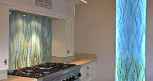 Range Cooker Stained Glass Window Splashback Kitchen