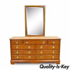 Drexel Heritage Dresser Hardware by Drexel Heritage Yorkshire Yew Wood Banded Ebony Long Dresser Chest