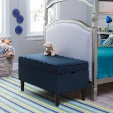 Navy Storage Bench by Classic Playtime Hannah Upholstered Storage Bench Navy Walmart Com